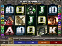 Tomb Raider - Secret of the Sword slots Slot Reels