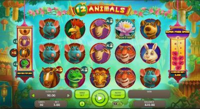 12 Animals slots Slot Reels