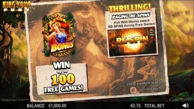 King Kong Fury slots Info