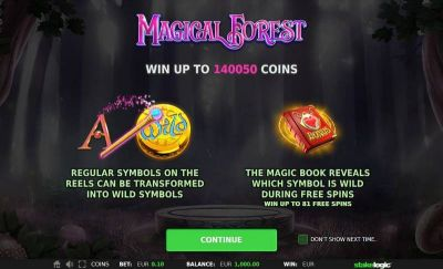Magical Forest slots Bonus 1