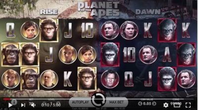 Planet of Apes slots Info