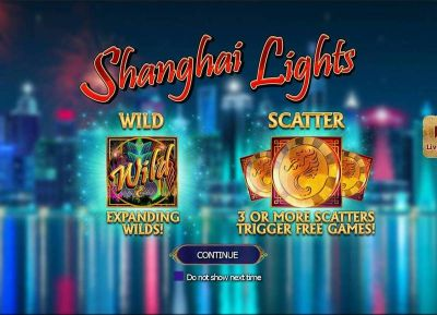 Shanghai Lights slots Info