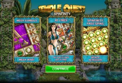 Temple Quest Spinfinity slots Info