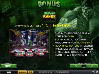 The Incredible Hulk slots Bonus 1