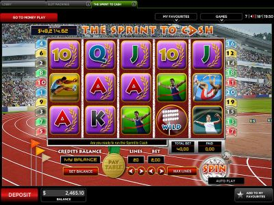 The Sprint To Cash slots Slot Reels