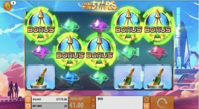 Ticket to the Stars slots Bonus 1