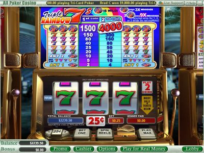 Triple Rainbow 7s slots Slot Reels