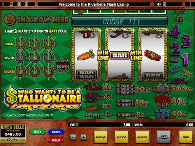 Who want's to be a Stallionaire slots Slot Reels