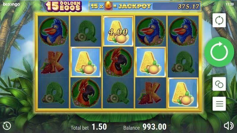 15 Golden Eggs slots Winning