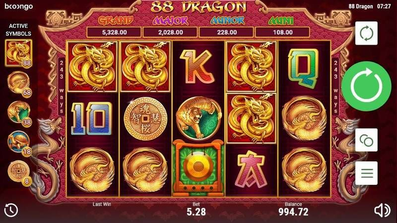 88 Dragon slots Slot Reels