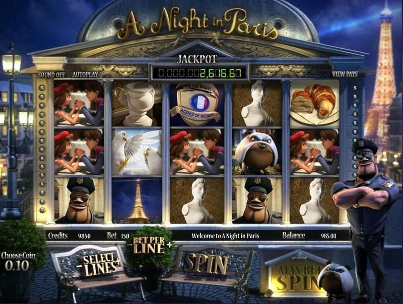 A night in Paris slots main