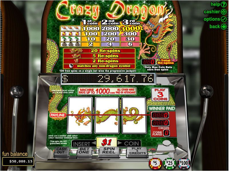 Crazy Dragon slots Slot Reels