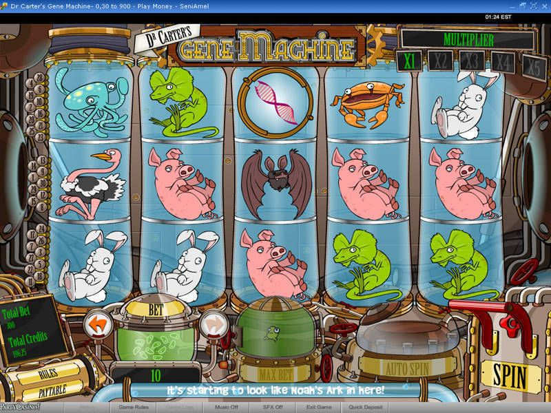 Dr Carter's Gene Machine slots Slot Reels