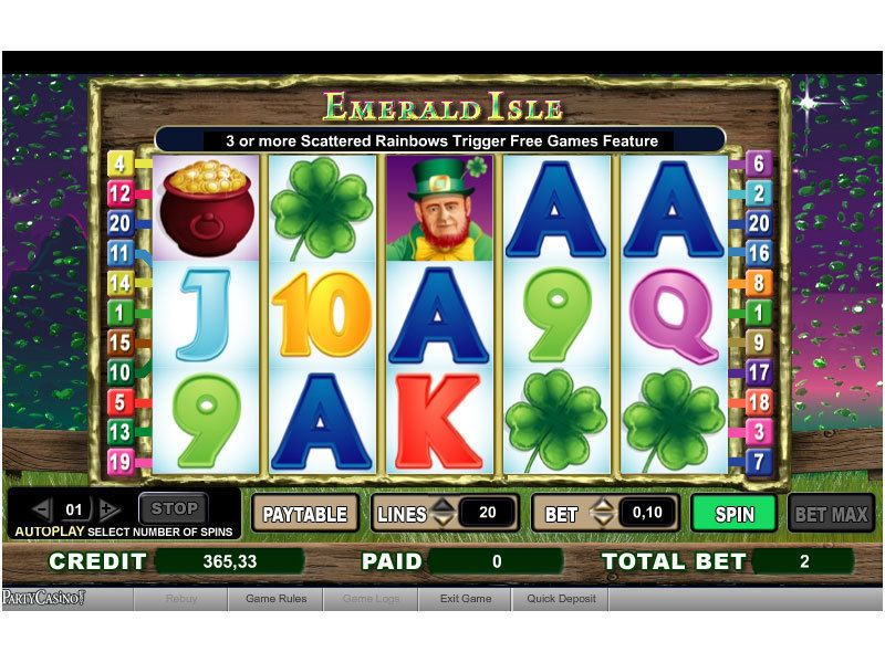Emerald Isle™ Slot Machine Game to Play Free in Cryptologics Online Casinos