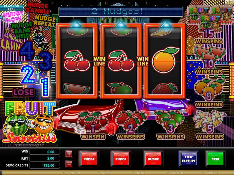 Fruit smoothie slots machines casino near bemidji mn