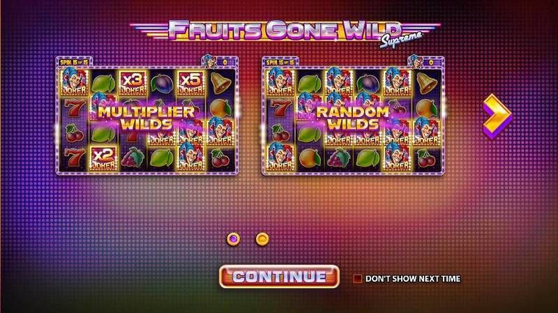 Fruits Gone Wild Supreme slots Info