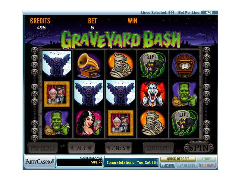 Graveyard Bash™ Slot Machine Game to Play Free in PartyGamings Online Casinos