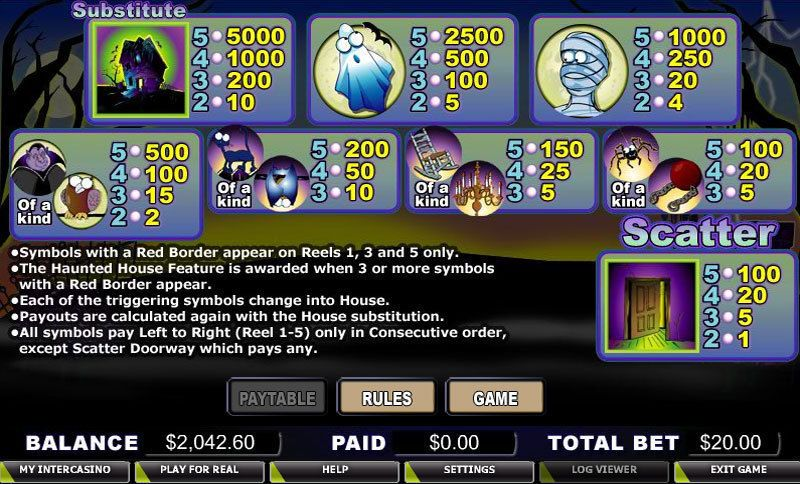 Ghost House Slot Machine - Available Online for Free or Real