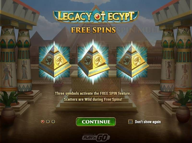 Legacy of Egypt slots Free Spins Feature