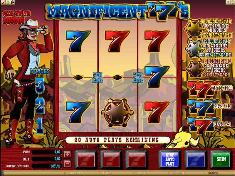 Magnificent 777's slots Slot Reels