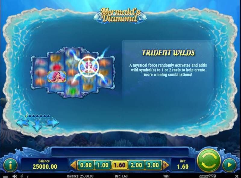 Mermaid's Diamonds slots Bonus 1