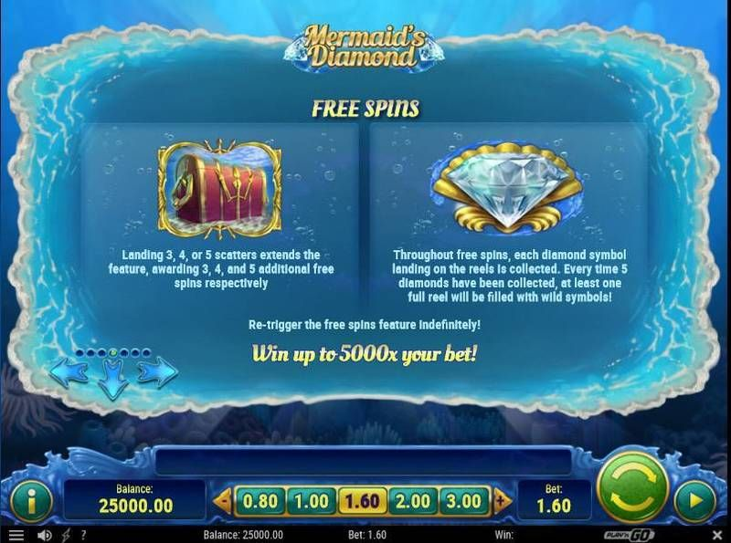 Mermaid's Diamonds slots Bonus 2