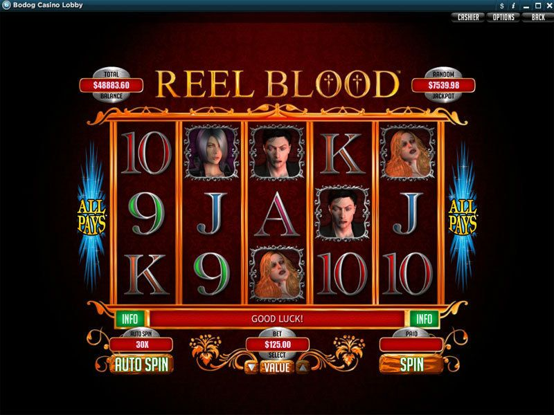 Reel blood slot machine online casino lucky