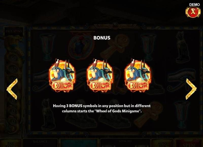 The Asp of Cleopatra slots Bonus 1
