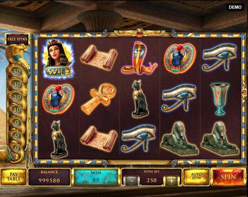 The Asp of Cleopatra slots Paytable