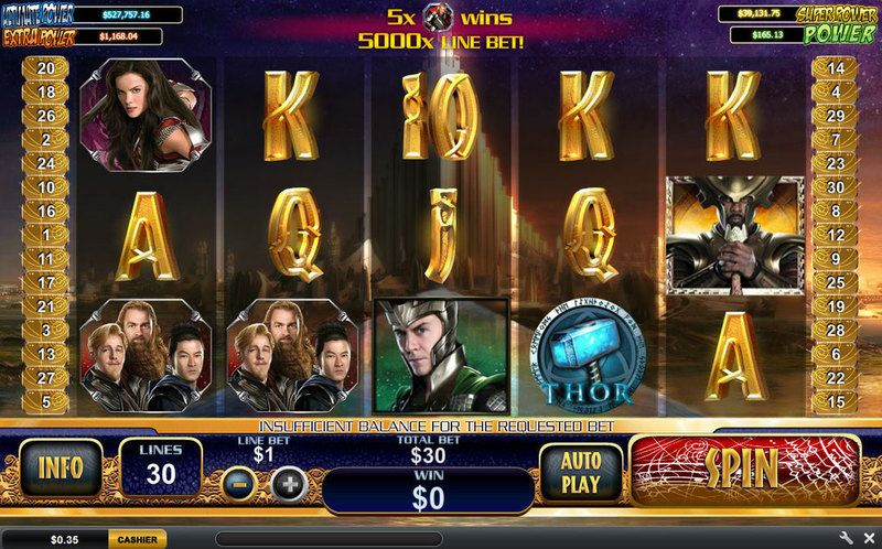 Thor The Mighty Avenger slots Slot Reels